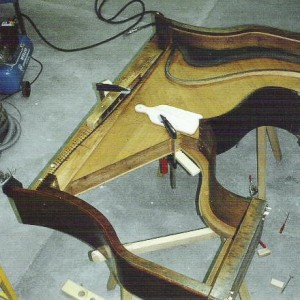 """Sébastien Mercier 1831 Piano-pont """"Niche de chien"""" restauration complète"""